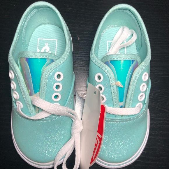 115d86a992e9ca Toddler Girl Vans Glitter   Iridescent Sneakers